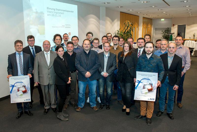 über 1.400 neue Stammzellspender bei Audi aus Ingolstadt