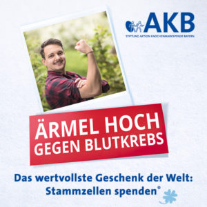 Aktion Knochenmarkspende Bayern: Ärmel hoch Motiv