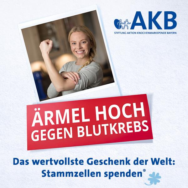 Ärmel hoch gegen Blutkrebs in Bayern