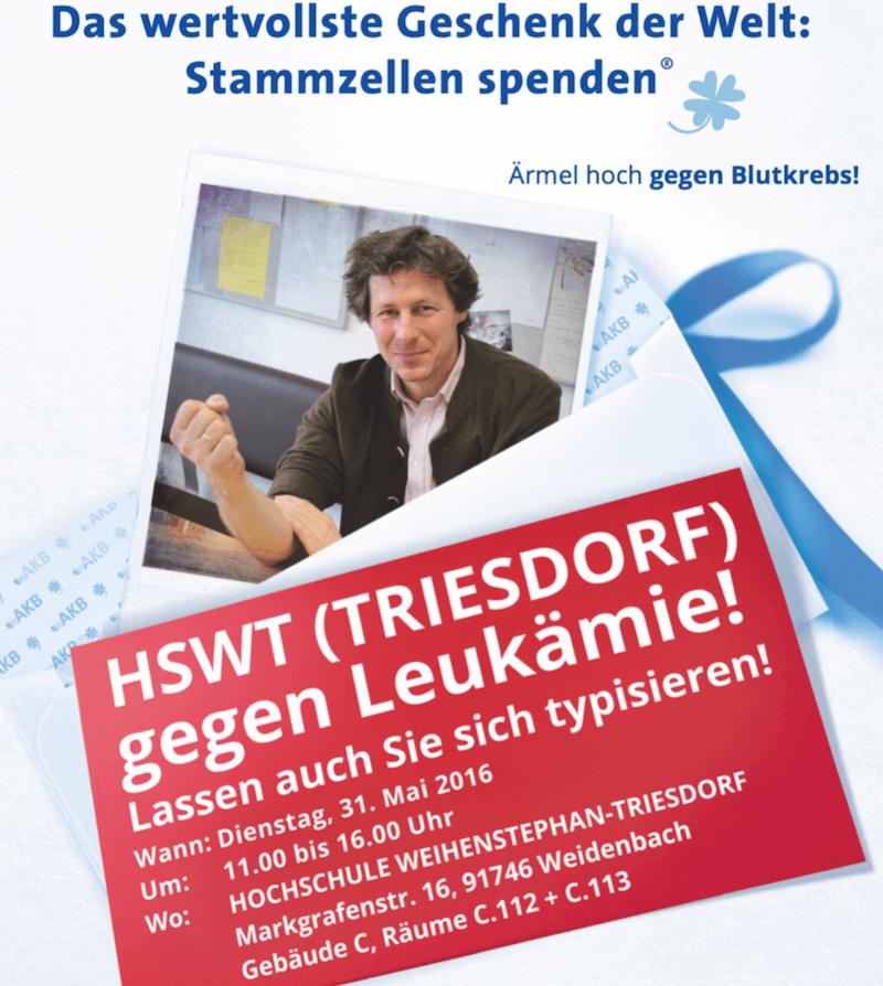 Hochschule Triesdorf gegen Leukämie Typisierungsaktion