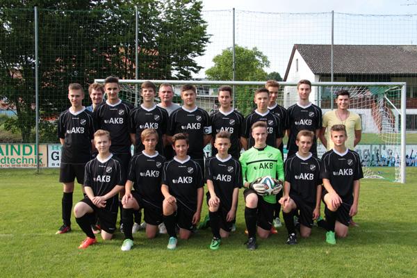 Fußballsponsoring SV Oberhaindlfing-Abens e.V. spielt mit AKB Logo