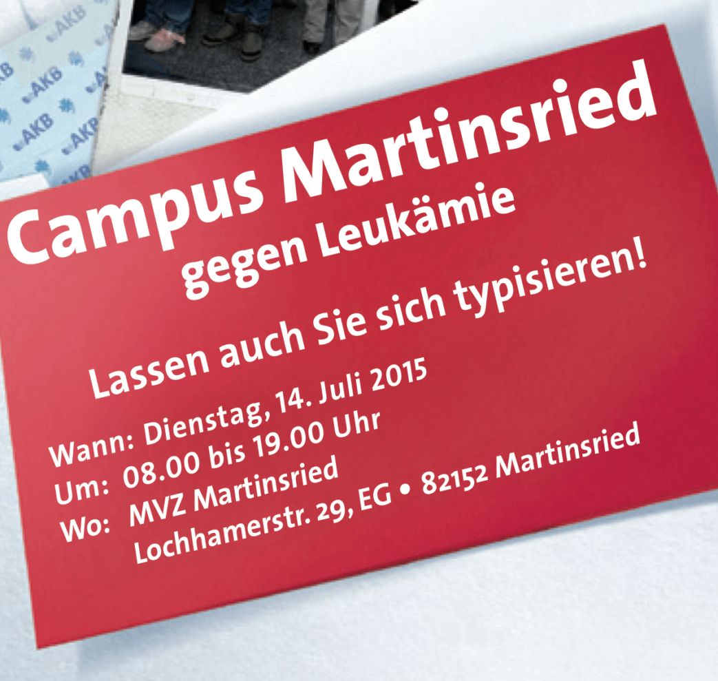 Campus (MVZ) Martinsried gegen Leukämie