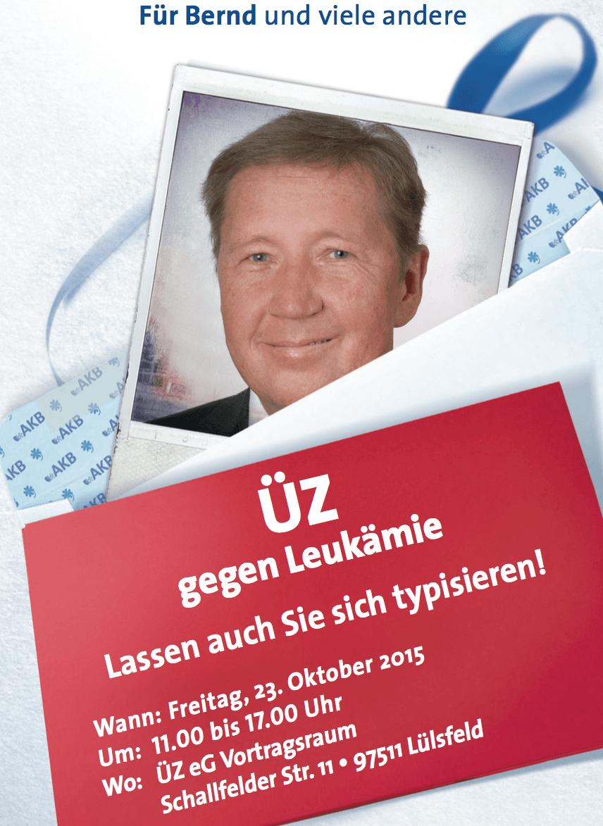 ÜZ gegen Leukämie in Lülsfeld am 23. Oktober 2015