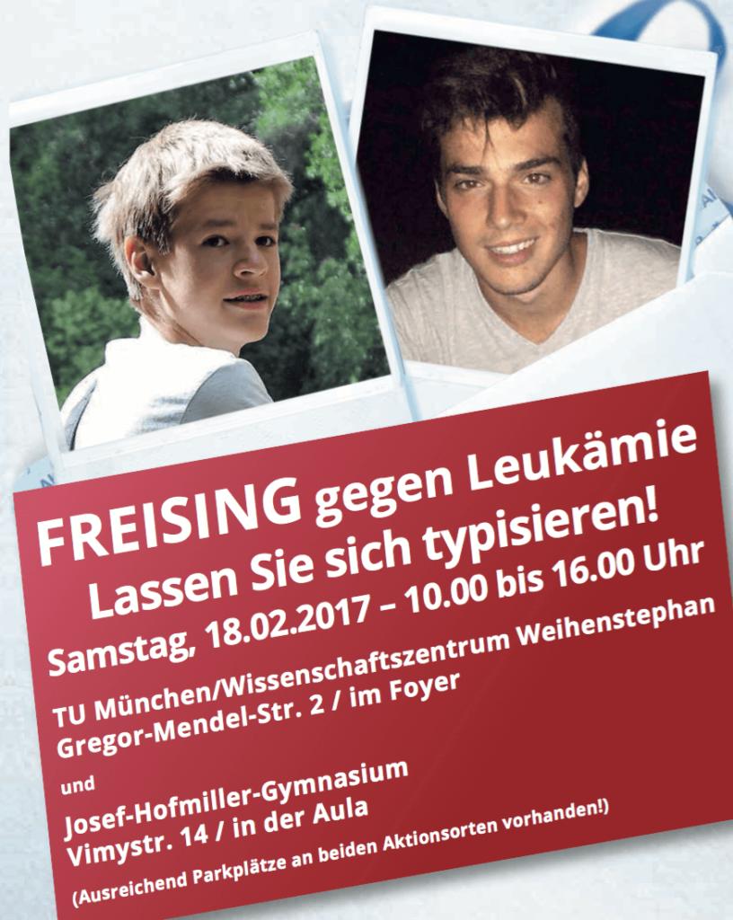 Stammzellspender für Freisinger Jungs gesucht