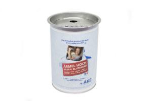 Spendendose Stiftung AKB: Geld sammeln gegen Leukämie