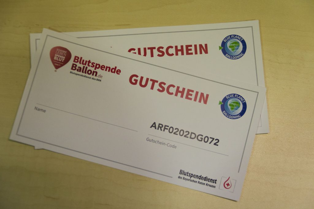 Ballonfahrt, Blutspende, Jugendrotkreuz, Knochenmarkspende Bayern,